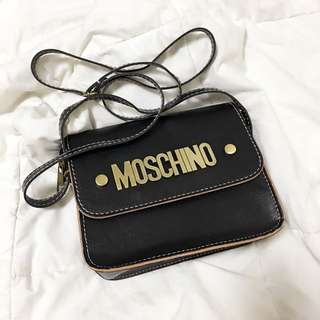 Moschino Inspired Sling Bag (Black)