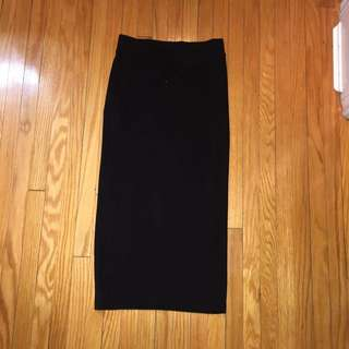 H&M Black Maxi Skirt