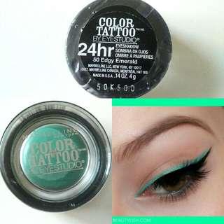 Maybelline Color Tattoo Eyeshadow #50 Edgy Emerald