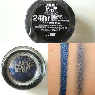 Maybelline Colour Tattoo Eyeshadow #Electric Blue