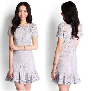 BNWT Lilypirates Love In The Afternoon Dress In Dusty Lilac Size S
