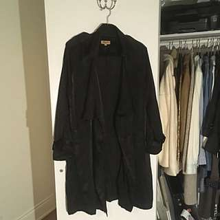 Beulah Style Satin trench Coat