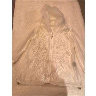 White 3D Flower Jacket