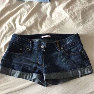 Size XS Mini Shorts