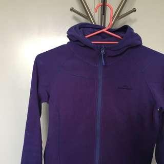 Kathmandu purple Fleece Jacket Size 10 With Hood
