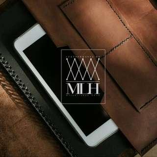 Custom made leather file case bag