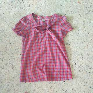BUY 2 GET 1 FREE Esprit Bow Front Flannel Blouse