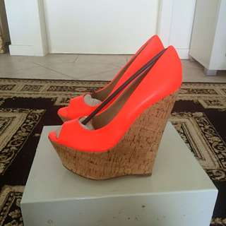 Brand New Fluoro Wedges From Wanted Size 8