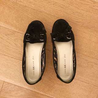 Black Anne Klein Suede Loafers