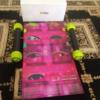 Zumba Dvd Complete Set With Shakers!