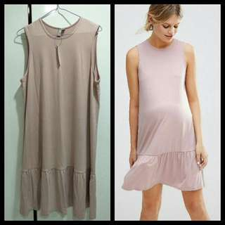 BNWT ASOS maternity Shift Dress With Peplum Hem