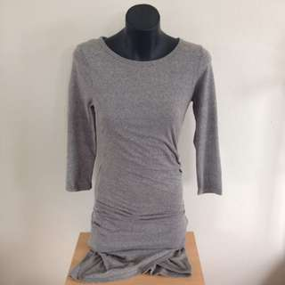 Grey Bodycon Split Dress
