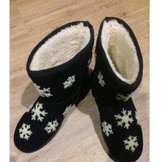 雪花內鋪毛保暖雪靴