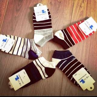 日式簡約風 男生襪子 五色一組出貨