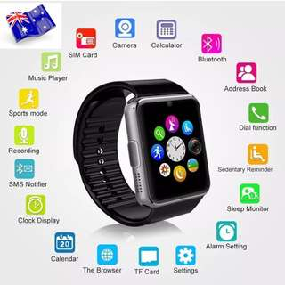 SMART WATCH FOR IPHONE AND SAMSUNG BLUETOOTH CALLS SIM SLOT BRAND NEW
