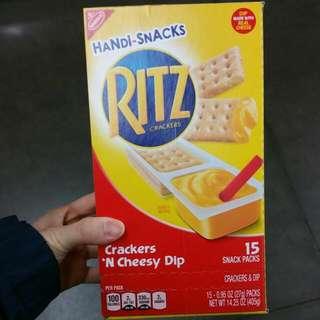 Hand Snack Ritz Cracker