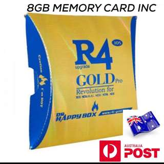R4 CARD SUITS ALL DS TYPES 3D XL INC 8GB MEMORY CARD WITH GAMES