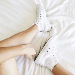 Converse White High Tops