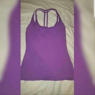 Montiel Purple Active Wear Singlet
