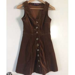 Princess Highway Brown Corduroy Style Dress