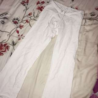 American Apparel White Fleece Pants