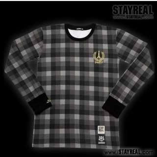 絕版STAYREAL French Chequer Long Sleeve 法式格紋長踢 M號