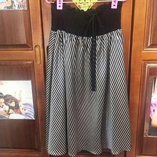 日本購入兩穿式斜條紋洋裝