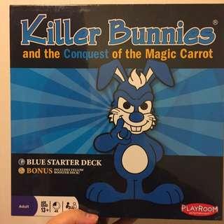 Killer Bunnies. Blue Starter Deck With Bonus Yellow Booster Deck