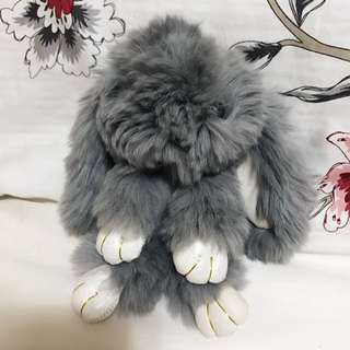 Fuzzy Bunny Keychain Or Phone Accessory