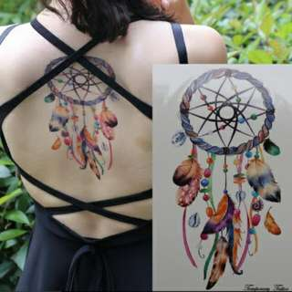 Colourful Dreamcatcher Temporary Tattoo