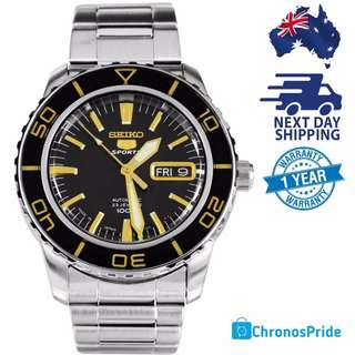 SEIKO 5 Divers SNZH57 SNZH57J Black Gold MADE IN JAPAN Mens Watch