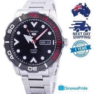 New SEIKO 5 Sports Automatic 24 Jewel Mens Watch SRPA07 SRPA07K1 FREE EXPRESS