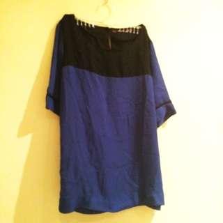 Dark Blue Formal Top