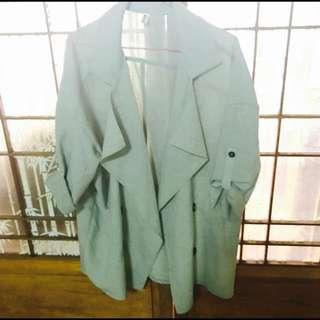 正韓 薄荷綠隨性風外套#外套特賣
