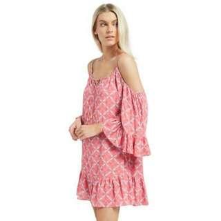 Pink Off The Shoulder Dress Size 8(s)