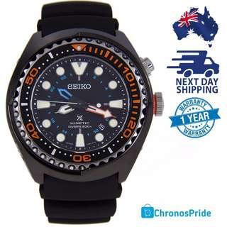 New SEIKO Prospex Kinetic GMT SUN023P1 SUN023 Mens Divers Watch FREE EXPRESS