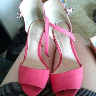 SALMON heels Size 7
