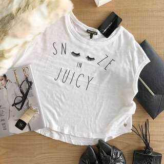 Juicy Couture 睫毛細字短削袖上衣