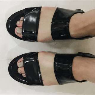 Strap Shoes In Black Size 37