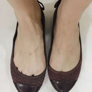 Flat Shoes Grendha Rubber In Burgundy