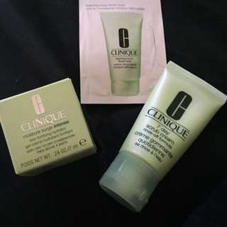 Clinique Skin Care (Moisturiser, Face scrub & Facial soap)