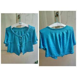 Cardigan Rajut Crop