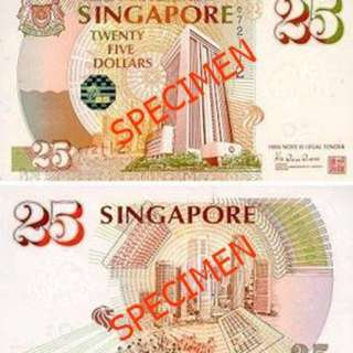 Wtb 25 Singapore Old Notes