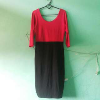 Body Con Black&Red Dress