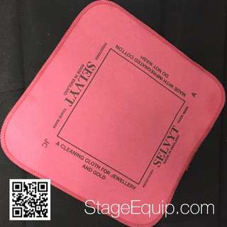 Selvyt 'JC' for Jewellery & Watches (Maroon) Polishing Cloth 25cm x 25cm