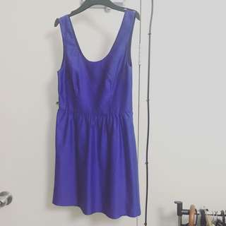 BlueJuice Purple Satin Dress