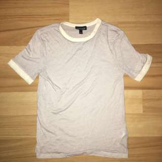 Two Toned (White and Lavander/Blue/Grey) Tshirt