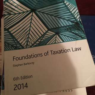 Foundations Of Taxation Law