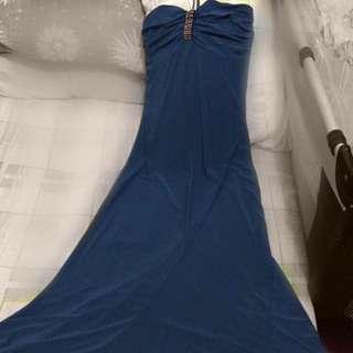 Blue-green Long Dress
