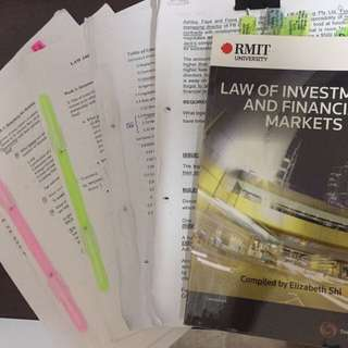 Law Of Investment & Financial Market
